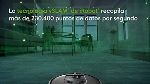 iRobot Roomba i7156 Robot aspirador adaptable al hogar, ideal para mascotas, alta potencia de succión con 2 cepillos de…
