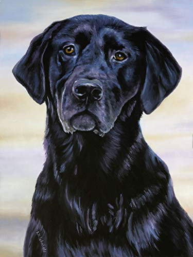 Custom Dog Portrait from Photo, original oil painting 12x16 inches by professional artist. Commission a painting.
