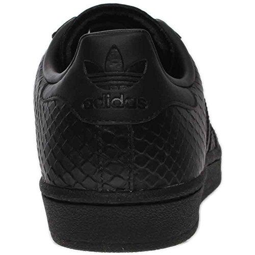 Adidas Kvinders Superstar S76147 Sort Læder Trænere 6 Os SO4zhHOhWH