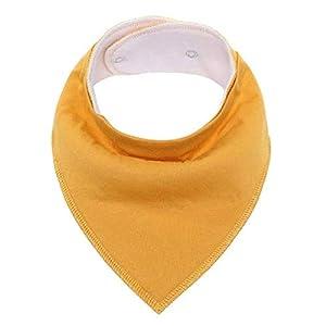 (3 pieces) Baby Bib, triangle cotton bib, pure color saliva towel, baby men and women, absorbent cloth, headscarf, bib