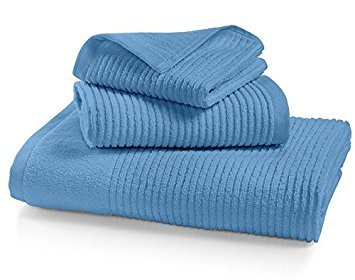 Martha Stewart Collection Quick Dry Reversible Bath Towel (Biscay Blue)