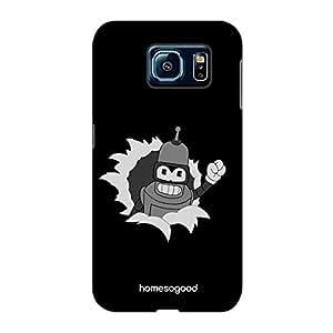 HomeSoGood The Metal Comrade Black 3D Mobile Case For Samsung S6 ( Back Cover)