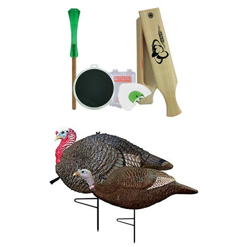 Primos Hunting 272 Friction Call, Turkey, Starter Pack and Gobstopper Jake & Hen Decoy Combo by Primos Hunting