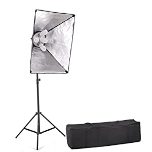 "StudioFX 1000 Watt Large Photography Softbox Continuous Photo Lighting Kit 20"" x 28"" by Kaezi CHS5"