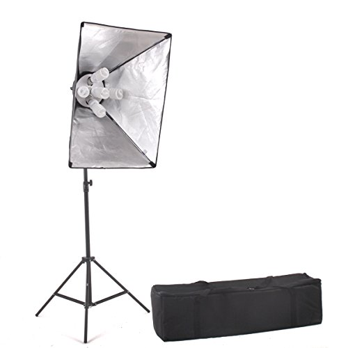 StudioFX 1000 Watt Large Photography Softbox Continuous Photo Lighting Kit 20'' x 28'' by Kaezi CHS5 by StudioFX