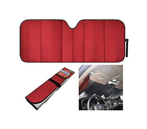 Reflective Red Foil Car Sun Shade Jumbo Reverse Reliable Folding Windshield Cover Quick Delivery