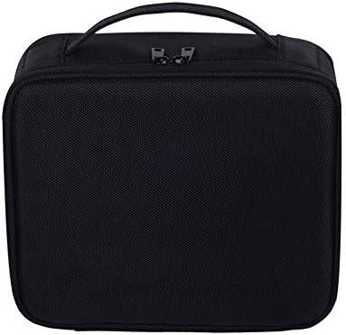 トラベルメイクアップケース、メイクアップのためのポータブルストレージバッグは女の子と女性、プレミアムコスメティックオーガナイザーバッグエスプレッソ用ポータブル化粧ポーチをブラシ,黒