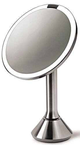 simplehuman 8 Inch Sensor Mirror, Lighted Makeup Vanity Mirror, 5x Magnification by simplehuman (Image #2)