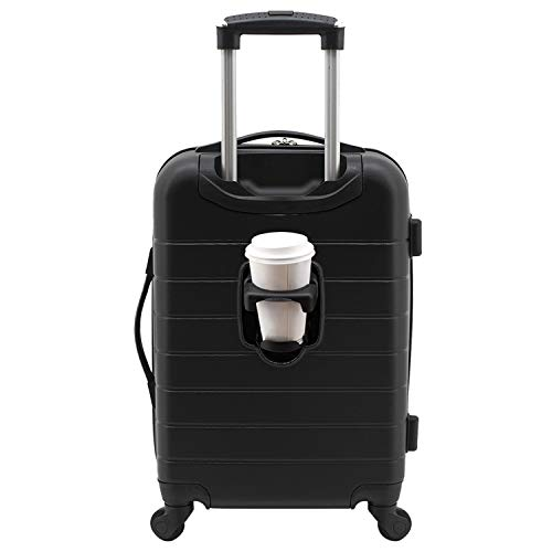"""Wrangler 20"""" Smart Spinner Carry-On Luggage with USB Charging Port"""