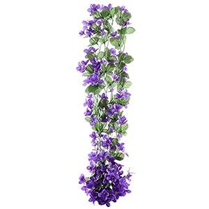 uxcell Home Garden Decor Wall Hanging Artificial Emulational Flower Vine 60
