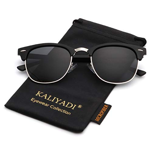 Polarized Sunglasses for Men and Women Semi-Rimless Frame Driving Sun glasses 100% UV ()