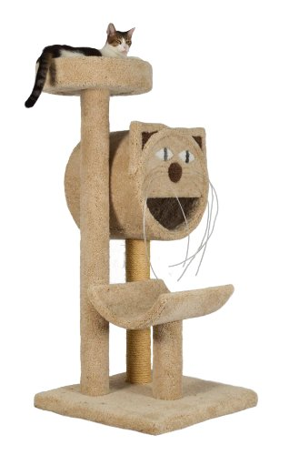 Molly and Friends ''Molly's Choice'' Premium Handmade 3-Tier Cat Tree with Sisal, Model 283, Beige by Molly and Friends