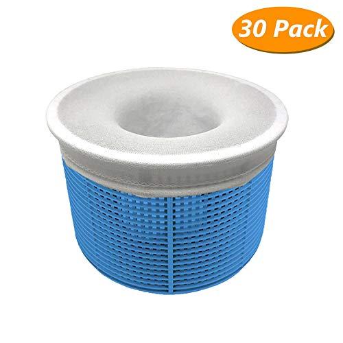 Homga 30 Pack Pool Skimmer Socks, Pool Filter Saver Socks Net for Filter Skimmer Basket, Ultra fine Mesh Screen Liner for Swimming Pool Basket