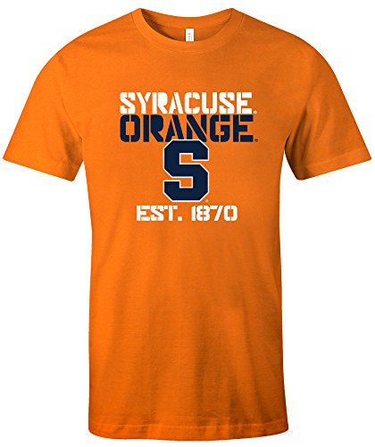 Syracuse University T-shirt - NCAA Syracuse Est Stack Jersey Short Sleeve T-Shirt, Orange,X-Large