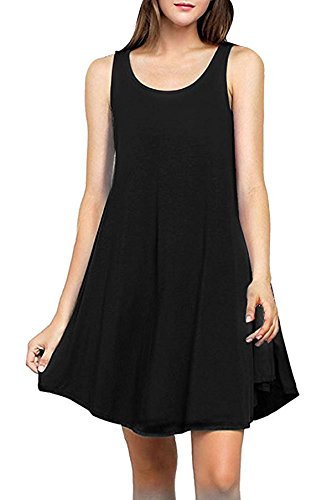 Womens Sleeveless Pockets T shirt Dresses product image