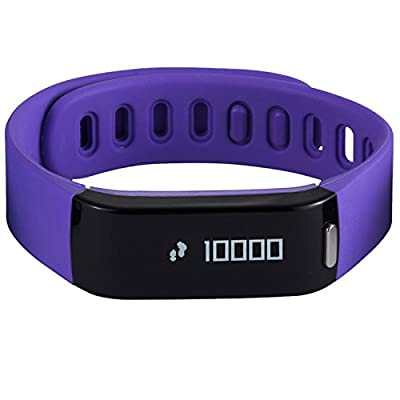 HeHa Waterproof Fitness Activity Tracker and Sleep Monitor Comfort Fit Band for Women Purple