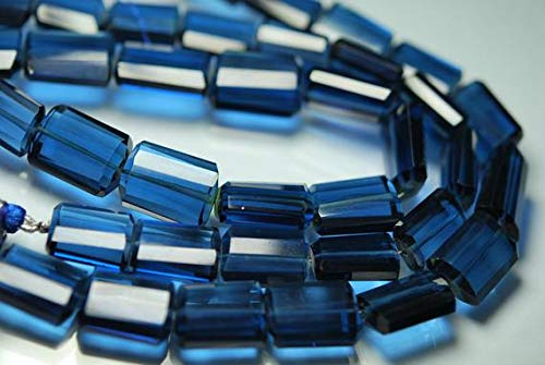 (GemAbyss Beads Gemstone 8 Inches Strand, Super Finest, London Blue Topaz Quartz Faceted Nuggets 16-18mm Code-MVG-2607)