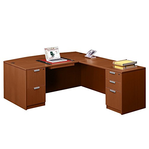 Contemporary Executive Bow Front L-Desk - 71
