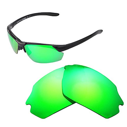 Smiths Lens - Walleva Replacement Lenses for Smith Parallel Max Sunglasses - Multiple Options Available (Emerald - Polarized)