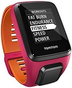 TomTom Runner 3 Cardio+Music, Reloj cardio y música, Rosa/Naranja ...