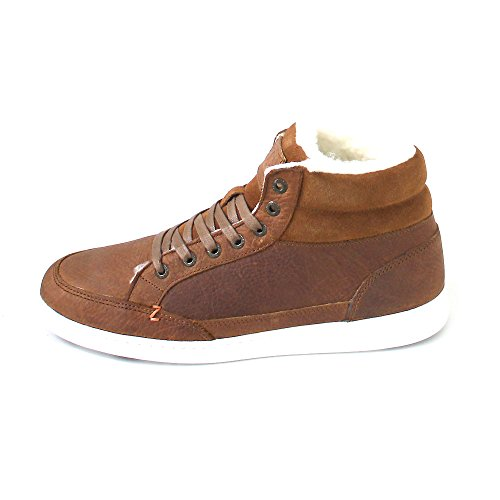 HUB Mark Mid L30 Leather Cognac White Brown choice best store to get for sale outlet footaction vRx4pMSYrq