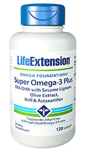Super Omega-3 Plus EPA/DHA with Sesame Lignans, Olive Extract, Krill & Astaxanthin 120 softgels-Pack-2