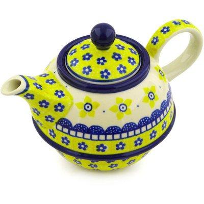Polish Pottery Tea or Coffee Pot 22 oz Sunshine