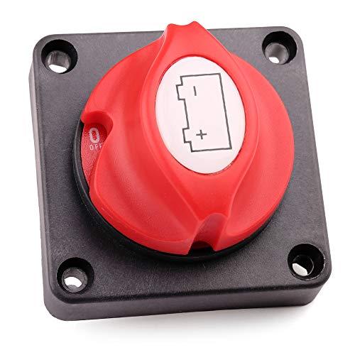 (Battery Switch, 6V 12V 24V 48V 60V Panel Mount On Off Battery Disconnect Cut Off Master Isolator Selector Switch for Marine, Boat, Car, Auto, RV, ATV, UTV, Travel Trailer, Vehicles, Non Removable Knob)