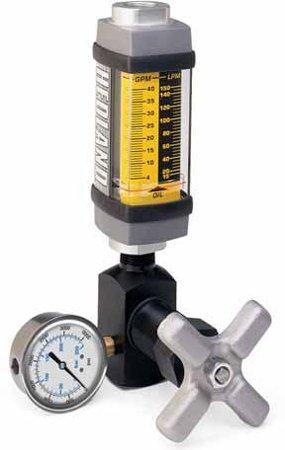 - Hedland Flow Meters (Badger Meter Inc) H601A-015-TK - Flow Rate Hydraulic Flow Meter - 15 gpm Max Flow Rate, SAE-10 1/2 NPT in Port Size