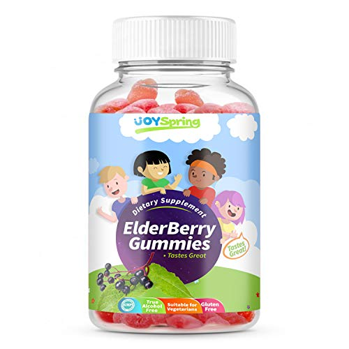 Elderberry Gummies for Kids - Vitamin C Immune System Booster - Tasty Triple Action Gummy Bears with Echinacea and Propolis - Mom Made, Toddler Approved