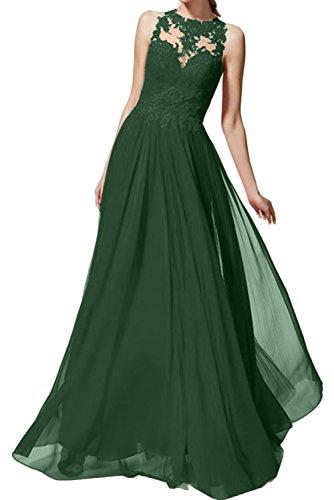 Dunkelgruen Ivydressing Chiffon Abendkleider Ballkleider Romantisch Rot Bodenlang Prinzessin Promkleider Spitze Damenkleider qC1aqUHw