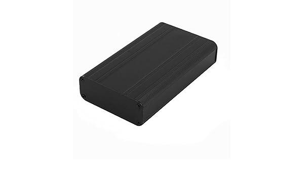 Amazon.com: eDealMax 113 x 66 x 25 mm Polivalente electrónica de aluminio extruido del caso del recinto Negro: Electronics