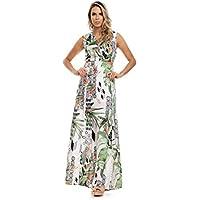 Vestido Clara Arruda Longo Detalhes Lateral 50476