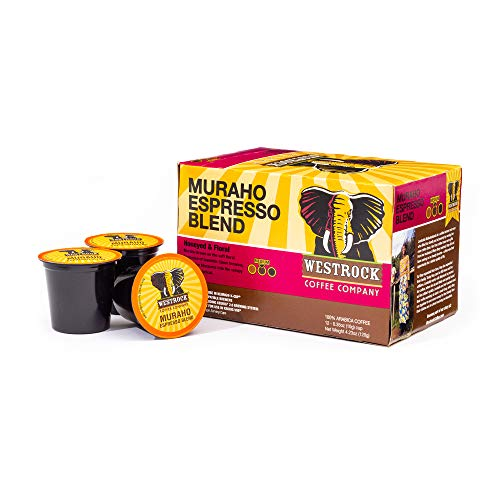 Westrock Coffee Muraho Espresso Blend Medium Roast Single Serve Gourmet Coffee 12 Count cups
