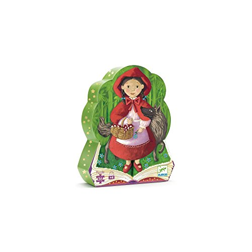 Little Red Riding Hood Patterns (Djeco Silhouette Puzzle, Little Red Riding Hood)
