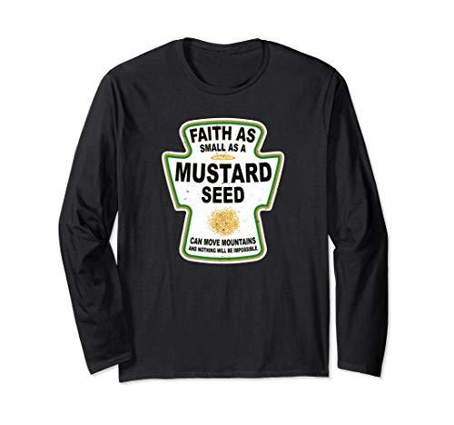 - Grunge Christian Seed of Mustard Faith Jesus Long Sleeve T