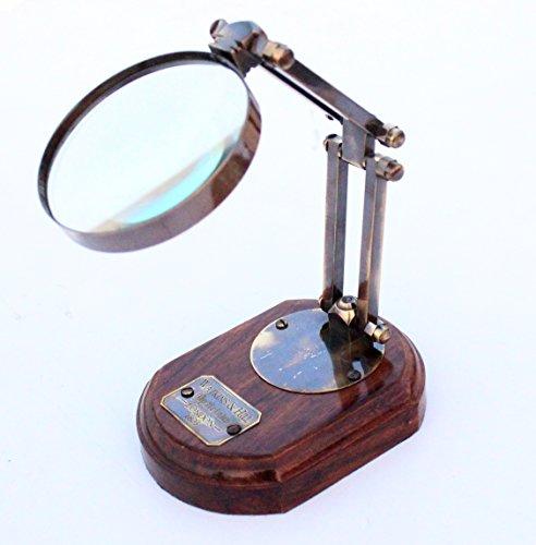 Decorative Watkins & Hills Opticians London 1805 Antique Brown Marine Magnifying - Glasses Store London