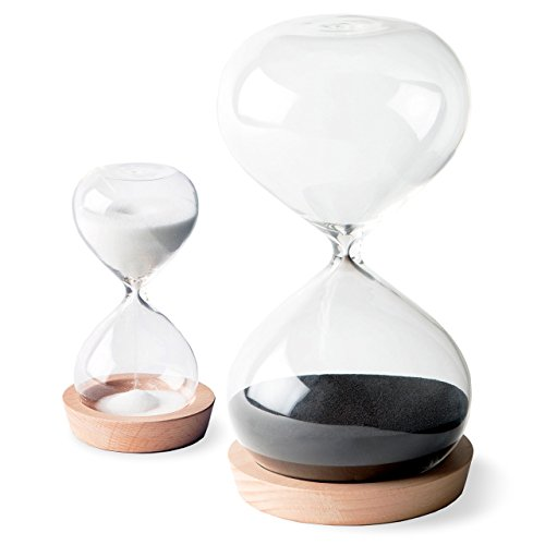 OrgaNice Hourglass Sand Timer - 30 Minute & 5 Minute Timer Set - Improve Productivity & Achieve Goals - Stay Focused & Be More Efficient - Time Management Tool - [Gift-Ready Packaging] (Large Hourglass)