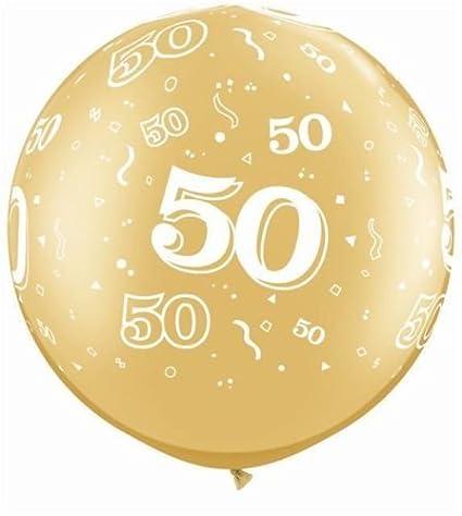 Amazon.com: Edad 50-a-round 50º cumpleaños/aniversario oro ...