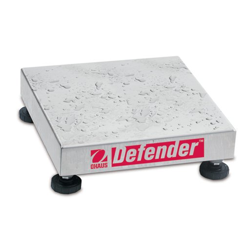 Bench Square Scale Base (Ohaus Defender 304 Stainless Steel NTEP Certified Washdown Square Bench Scale Base, 100kg x 10g)