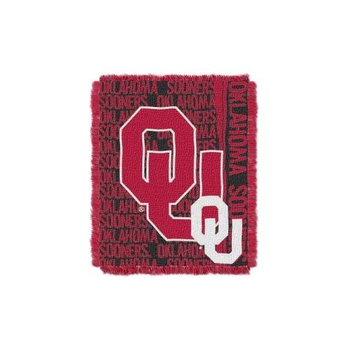 The Northwest Company Oklahoma Sooners NCAA Triple Woven Jacquard Throw (Double Play Series) (48x60) (2-Pack)