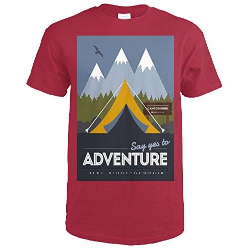 Blue Ridge, Georgia - Say Yes to Adventure - Tent (Cardinal Red T-Shirt Medium)