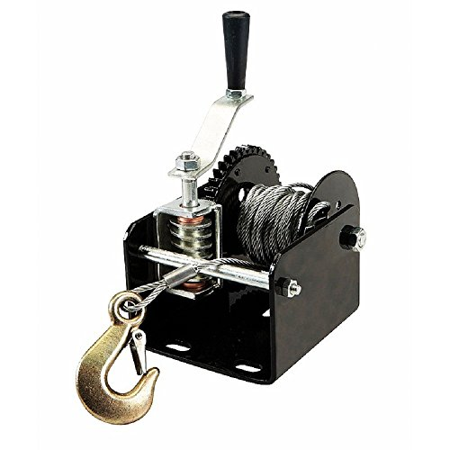 1-Ton-2000-Lb-Capacity-Worm-Gear-Hand-Winch-401-Ratio-Boats-Trailers-Pick-Up