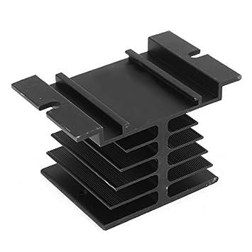 80mmx50mmx50mm alumínio dissipador de calor Cooler Fin radiador Preto