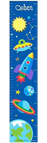 Out of This World Personalized Wall Decal Growth Chart By Olive ()