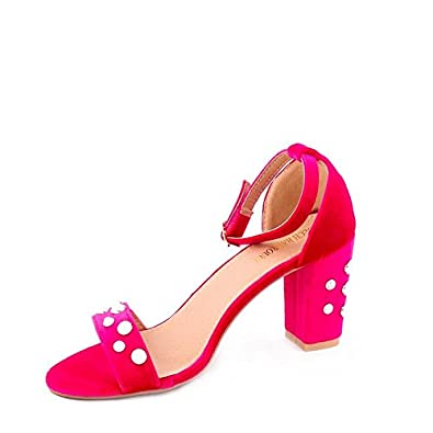74c210885 Dech Barrouci PearlStudded High Comfortable Fit Heels Ladies Sandals Girls  Party Wear Classy Attractive Elegant Look Hot Sandals Heels for Women and  Girls