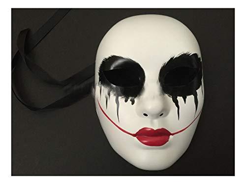 Red Lips The Purge Movie Anarchy Horror mask Killer Halloween Purge Cross Mask Costume ()