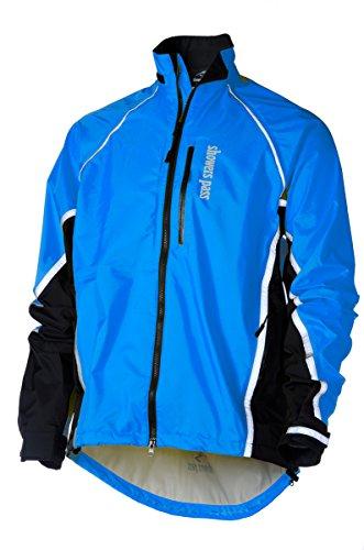 (Showers Pass Men's Waterproof Transit Cycling Jacket (Ocean Blue - Medium))