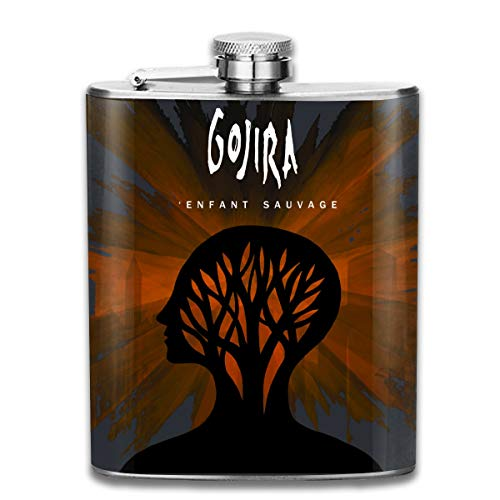 Gacslayed Men Gojira L'Enfant Sauvage Stainless Steel Flagon 8OZ Outdoor Flagon With Leakproof Flagon