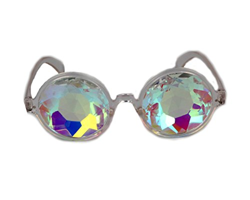 Festivals Kaleidoscope Glasses for Raves - Rainbow Prism Diffraction Crystal - To Sunglasses Glasses Convert